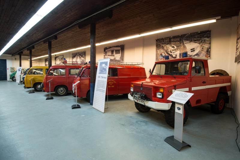 Zbirka vozil IMV, ki so jo postavili člani Kluba prijateljev IMV.